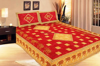 2015 Cotton Embroidery 100% cotton bed set embroidered indian imports wholesale massage bedsheets jaipuri cotton print