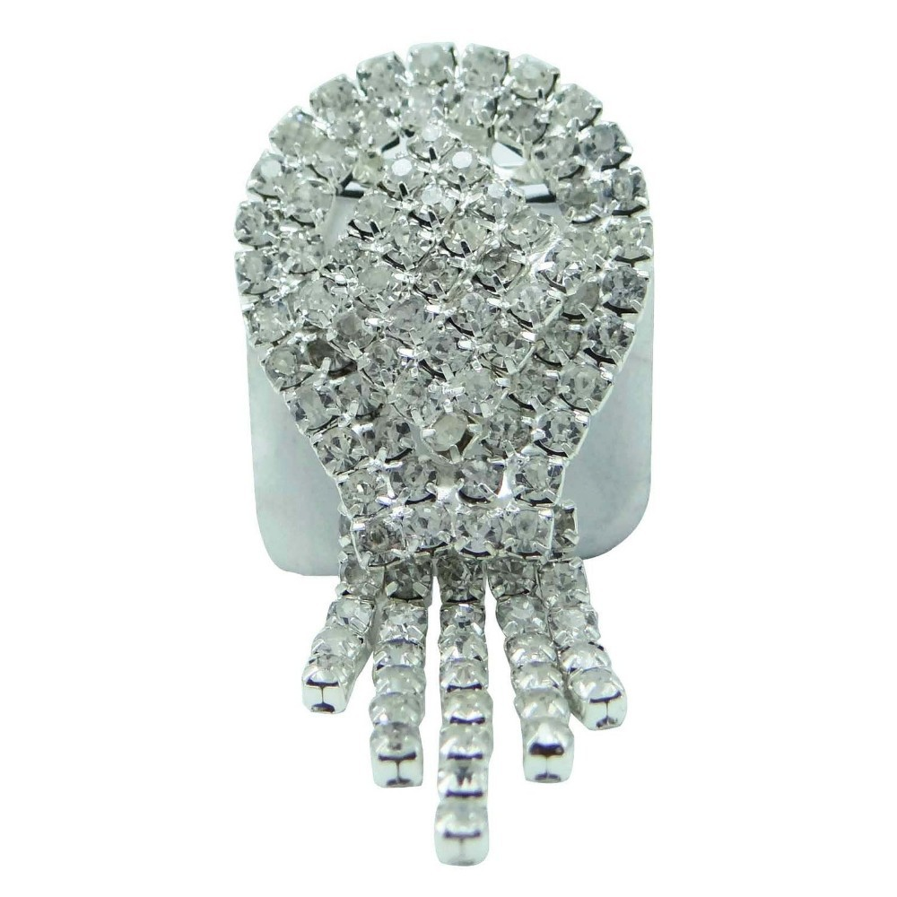 Designer Silvertone Brooch Pins CZ Stone Brooches Dress Accessories for Men