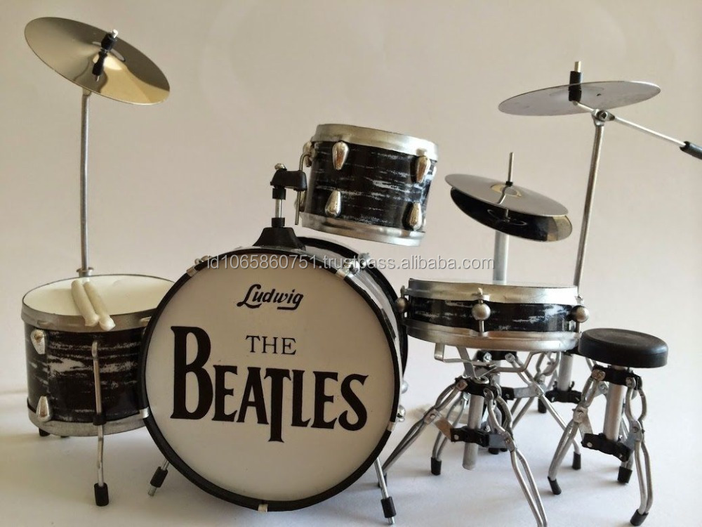 Miniature Drum Set RINGO STARR THE BEATLES Cymbal Brass Material