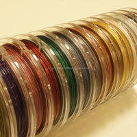 Various colors of stainless steel neck wires made in Japan