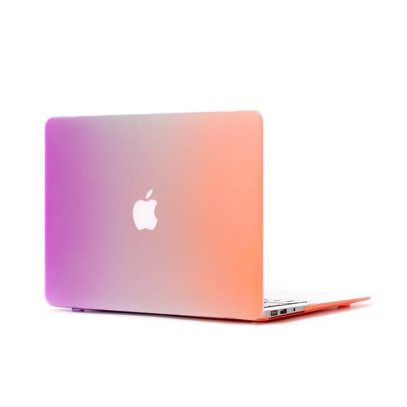 "Luxury Rainbow Hard Cover Case for macbook 12"" with 4 colors"