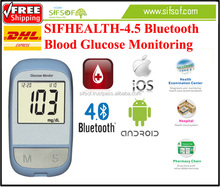 SIFHEALTH-4.5 Accurate and Fast Device To Measure Blood Glucose, Bluetooth Glucometer