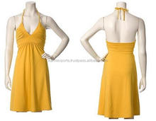 new beutiful design Spring dresses Susanna dress / 100% cotton dresses / Cocktail dress in yellow color for ladies wear