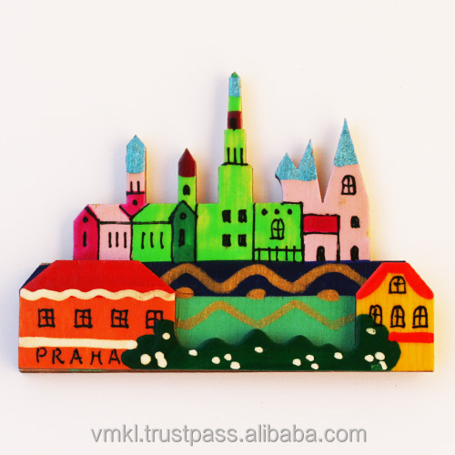 Prague souvenir magnets, fridge magnet custom with your city, handpainted fridge magnet for different countries, GH2-19