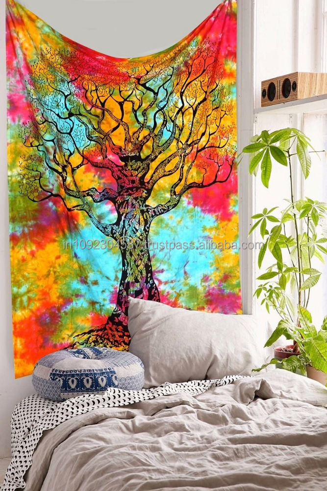 Tapestry Indian Wall Hanging Bohemian Hippie Bedspread Throw Decor