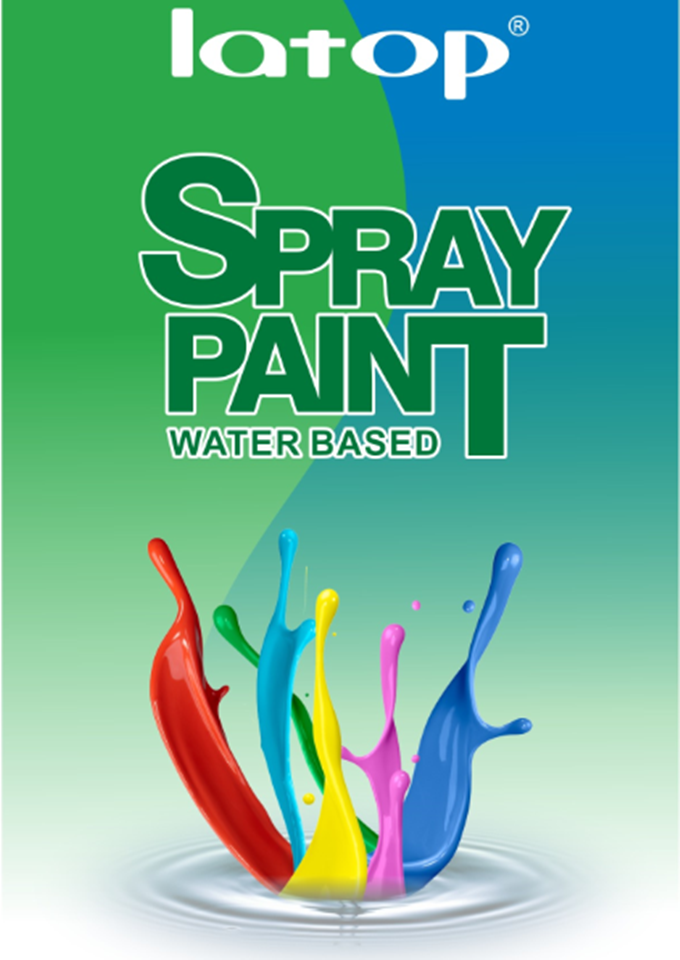 Eco-friendly free sample water Based aerosol spray paint
