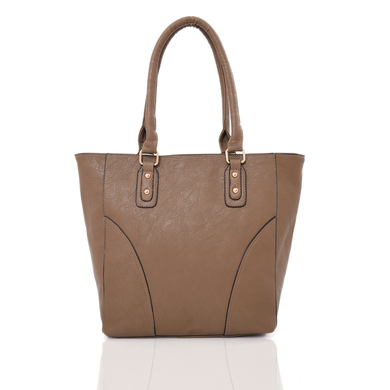 Wholesale Ladies Bags Basic Curved Panel Design Women Amelia Tote Bag