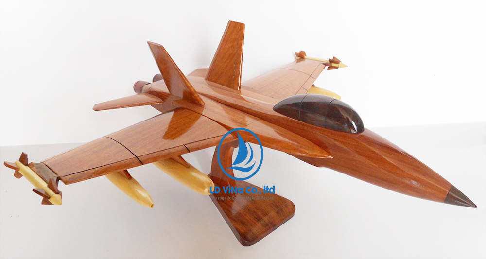 F18 AIR PLANE WOODEN MODEL