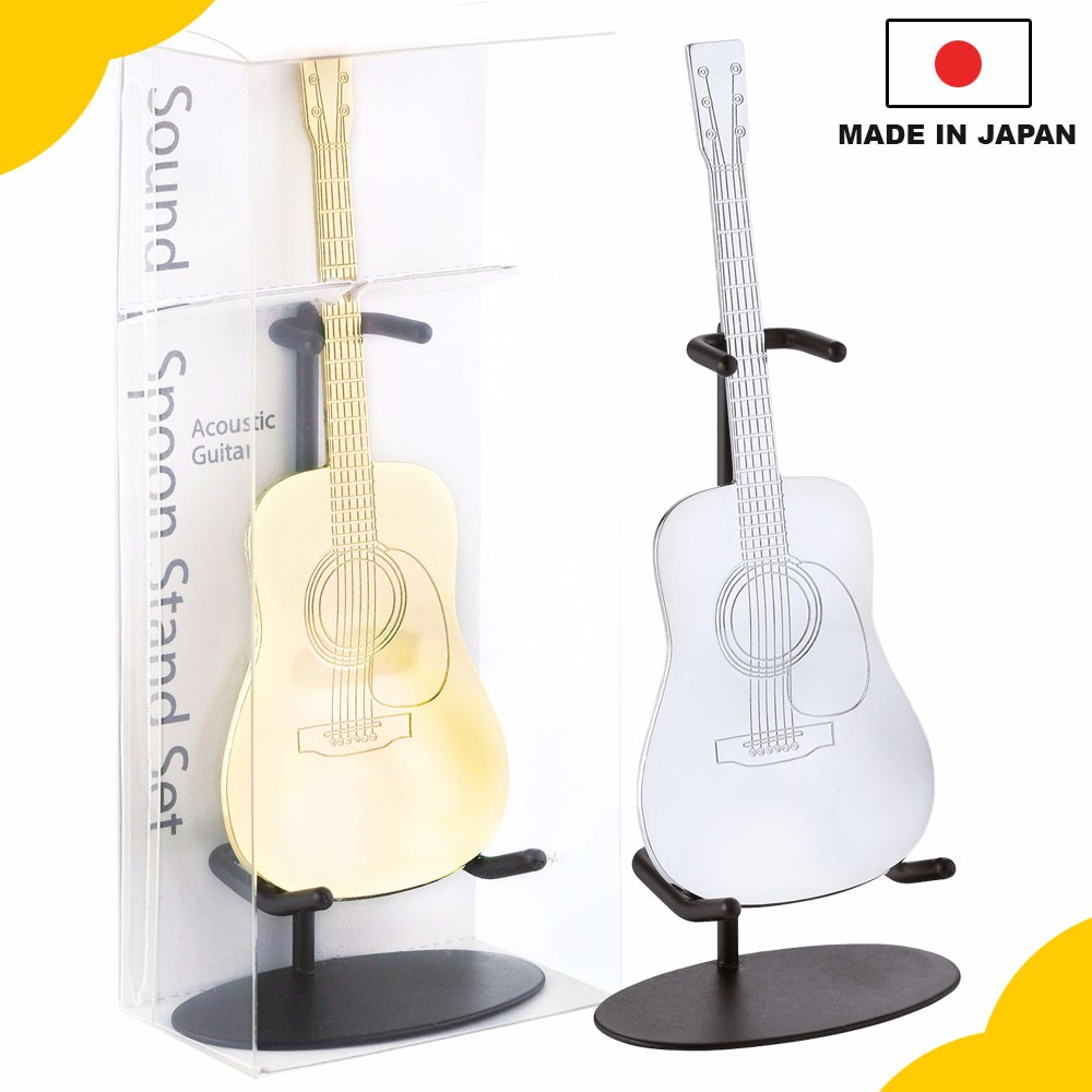 "Unique and cool best birthday gift for boyfriend, ""LP and Acoustic Guitar Shaped Spoon"" for rock music fan, small lot order avai"