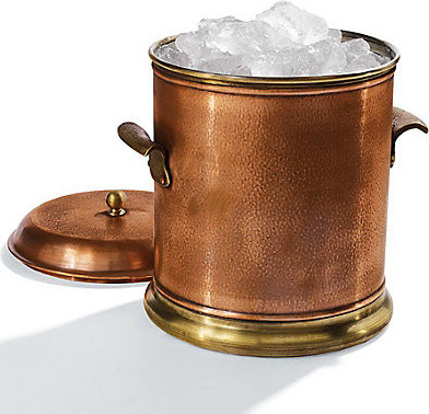 Large metal/Copper ice bucket with logo