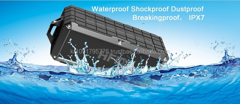 Waterproof bluetooth speakerr ipx7 for any mobile phone, ipad, and ipad mini