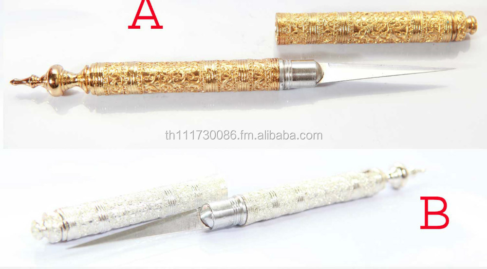 Royal Sukothai Lai thai Carving Fruit Vegetable Gold/Silver Design Knife