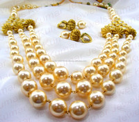 Traditional Golden Pearl Necklace