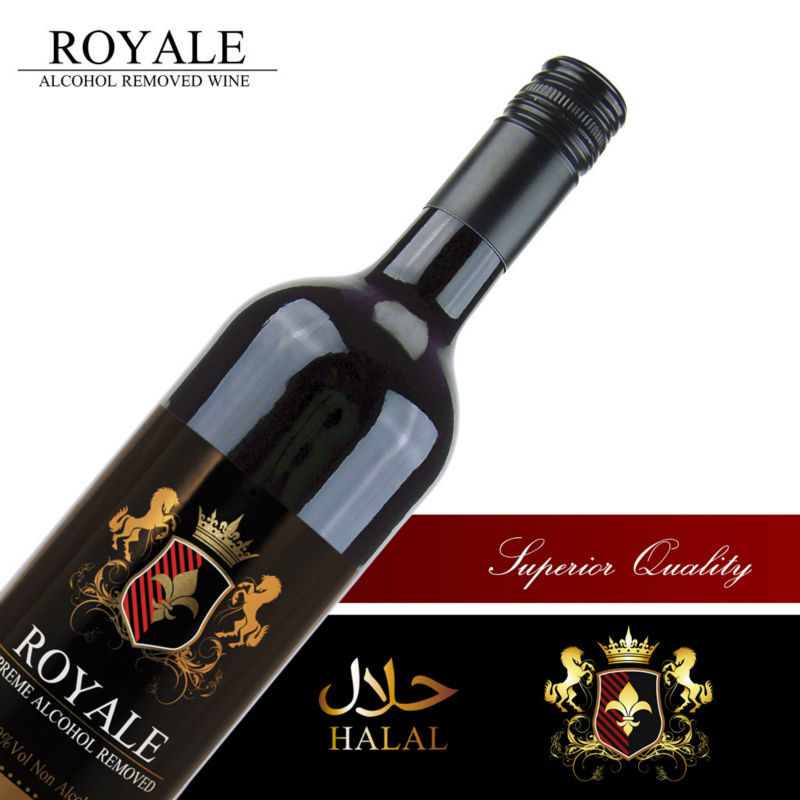 Royale non alcoholic red halal wine