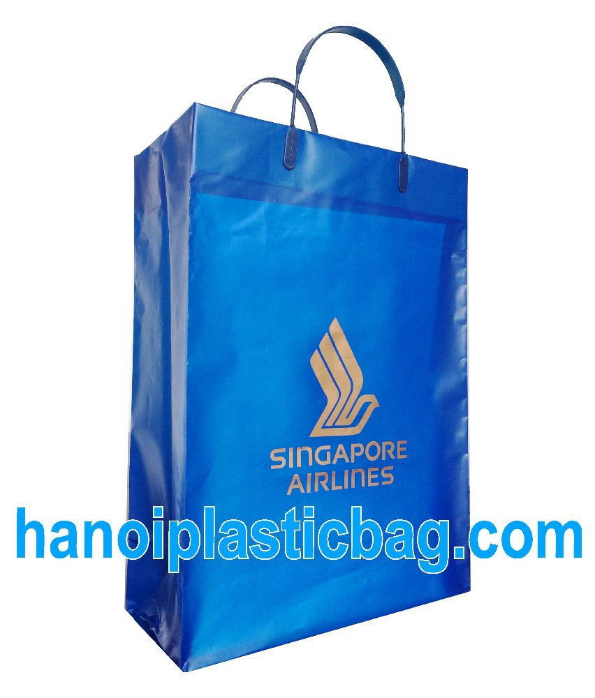 singapore air line- RIGID HANDLES POLYTHYLENE BAGS