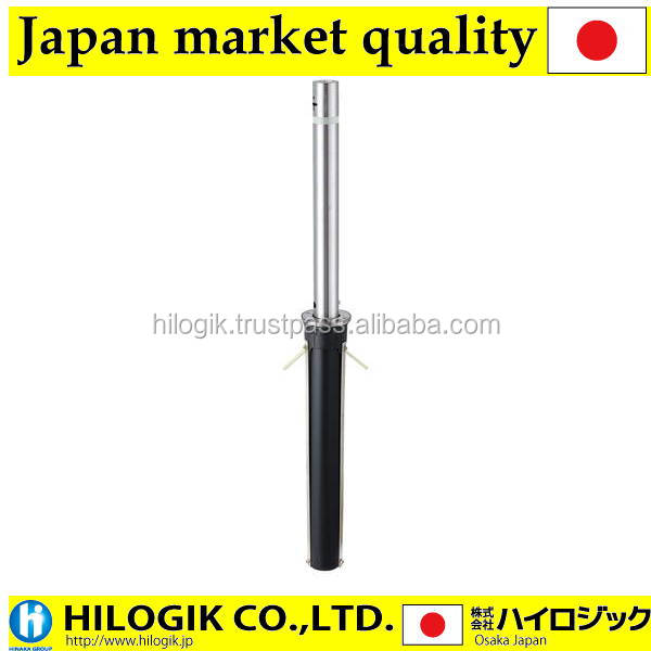 High-grade bollard up-and-down type hair line made from stainless steel 311CT object for ends made in Japan