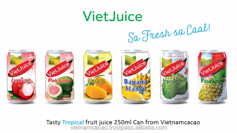 No presevatives Fruitjuice names Vietjuice from out Factory of Vietnamcacao
