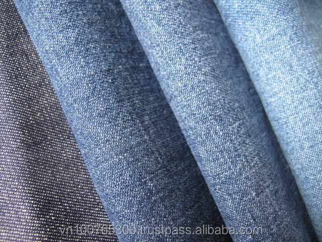 100% cott light denim fabric