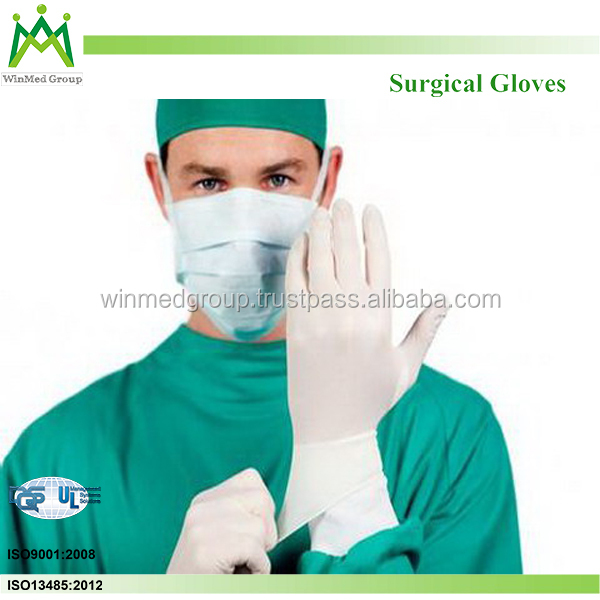 12 inch Medical Usage Sterile Custom Latex Surgical Gloves in Malaysia
