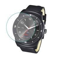 Super Thin Tempered Glass Film for LG G Watch R W110, front screen prtotector film for LG G Watch R