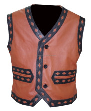 The Warriors Movie Bike Riders Men's Leather Vest Jacket Costume 475