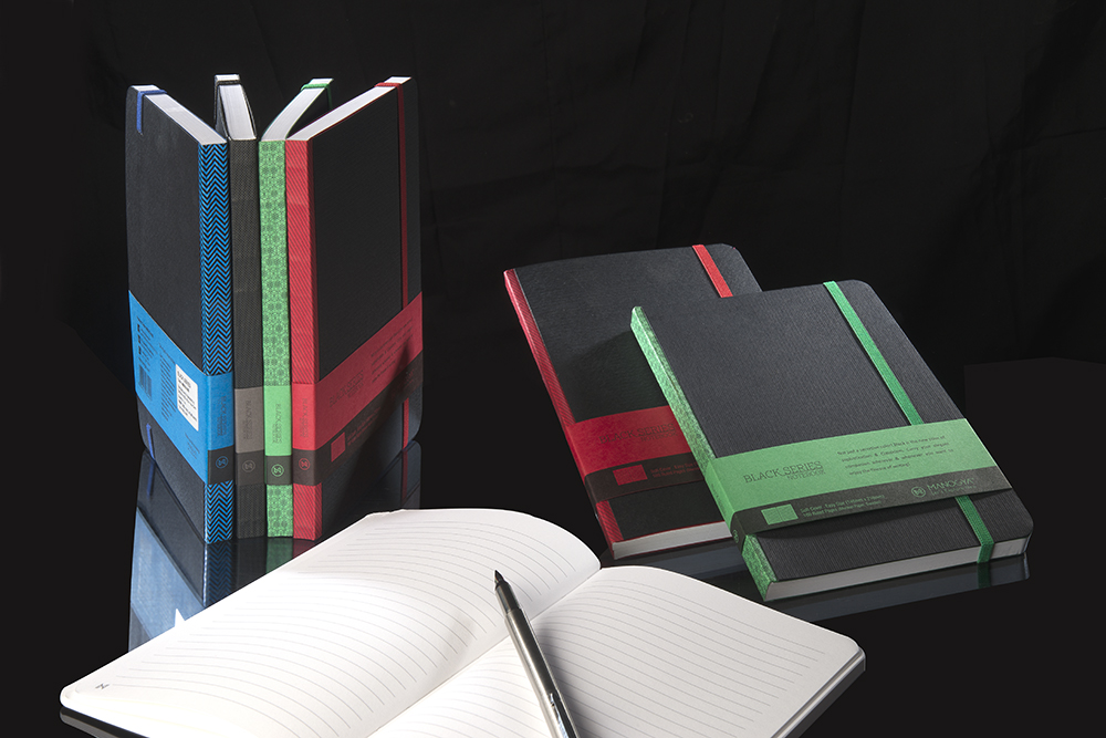 BEST WHOLESALE, ACID FREE PAPER NOTEBOOK, Executive Notebook, A 5/ BLACK PREMIUM NOTEBOOK