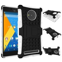 New Arrival Rugged Hard TPU+PC Robot Phone cases 2 in 1 Back Cover Stand Holder kickstand case for Micromax Yu Yuphoria