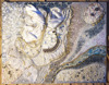 Beautiful Original abstract painting. Wall art interior decoration on Canvas. Embraced by The Snow Queen. Pearls, rose quartz