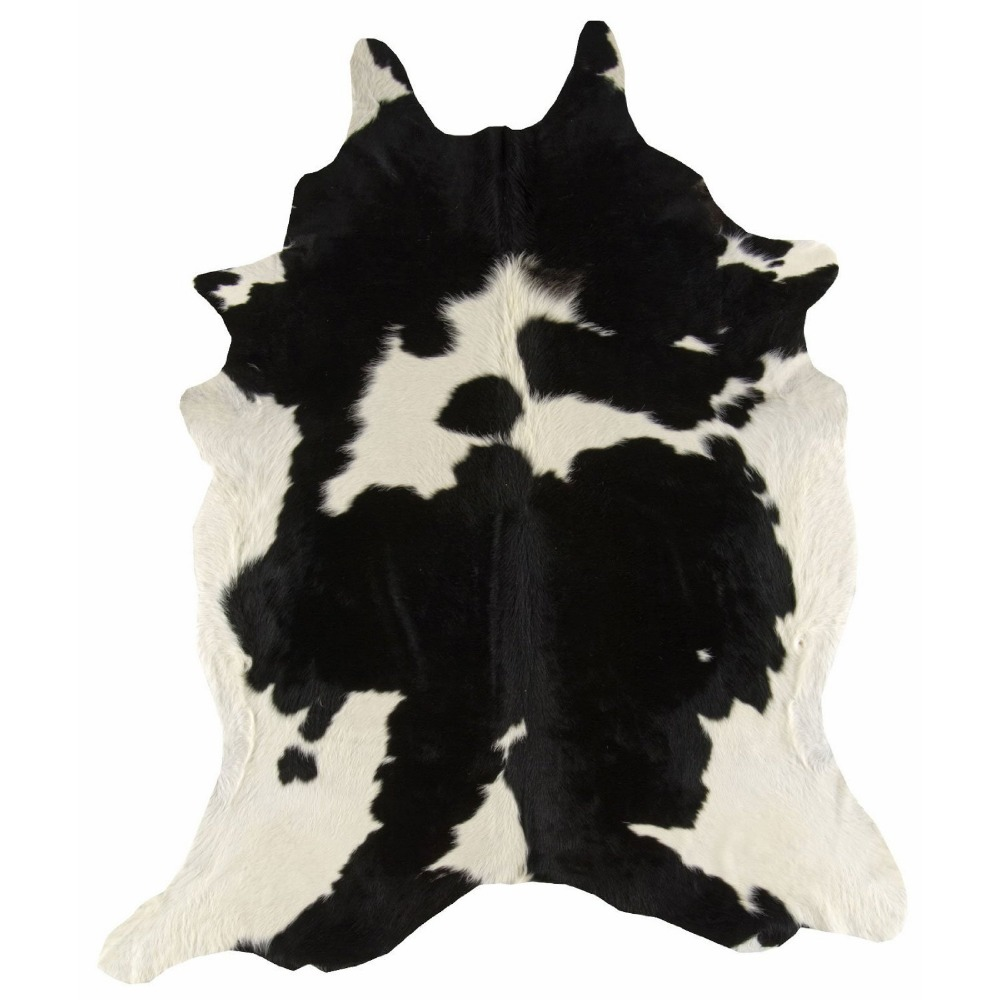 Brazilian black and white cowhide rugs