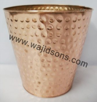 black tin made planter for sale | new small vertical planter | cooper plated planter | new design best finish planter