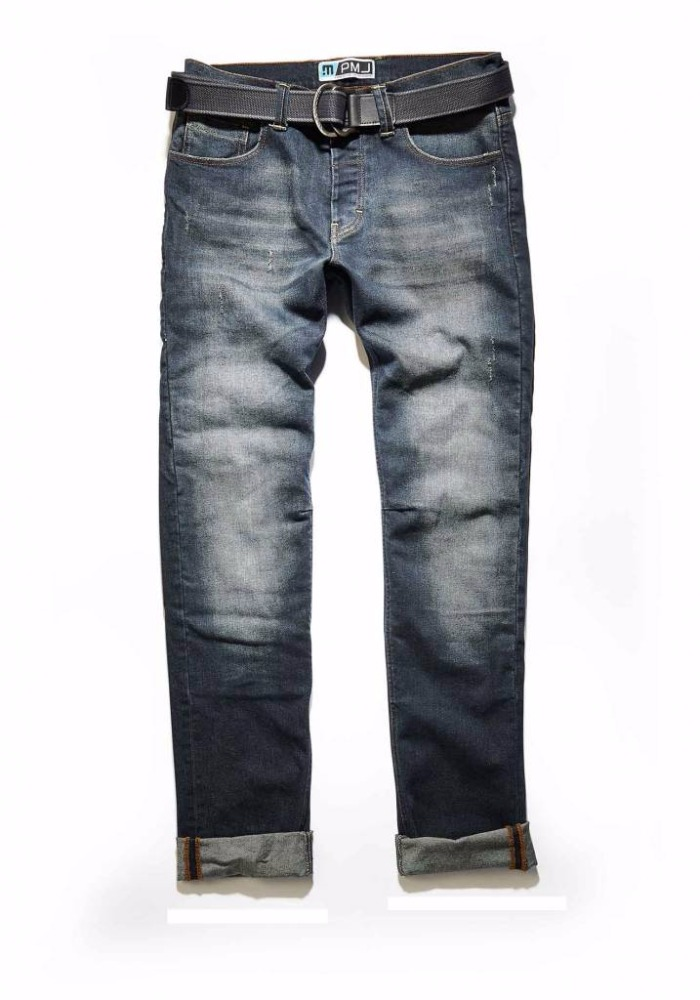 Slim fit Cafe Racer style stretch denim biker Jeans