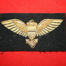 Us navy WW2 pattern bullion wire pilot wing