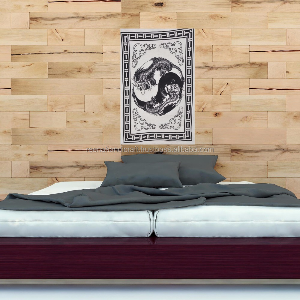 Indian Dragon Decorative Energetic Wall Hanging Cotton Poster
