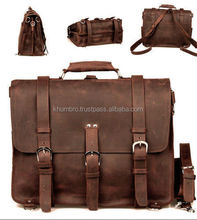 New fashion classic custom leather computer laptop bag / genuine leather bag for man