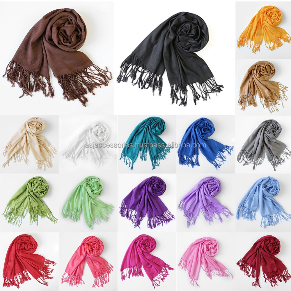 Party Wear Scarf Pashmina Shawls with tassels 2017 Scarf