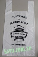 LDPE white Plastic T Shirt Bag with hight printing