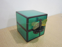 Jewelry box green color with lock