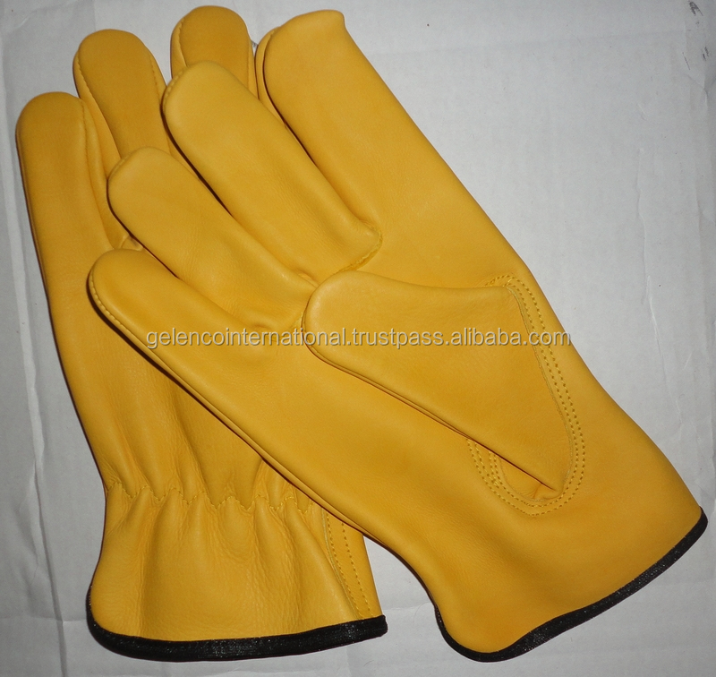 cow skin driver gloves