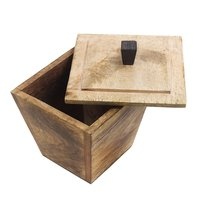 Store Indya Wooden Canning Jar/Storage Box Container with Lid