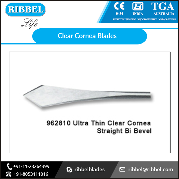 Ultra Thin Clear Cornea Blades Round Stock at Reasonable Rate