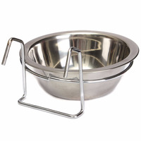 Stainless Steel Coop Cup Hanger Pet Bowl