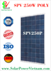 SPV 250w poly Solar Panel with AR-Coated glass for grid-on/off solar system certificated by TUV