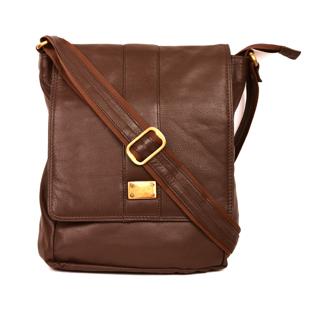 TEAKWOOD LEATHER REAL GENUINE MESSENGER BAG