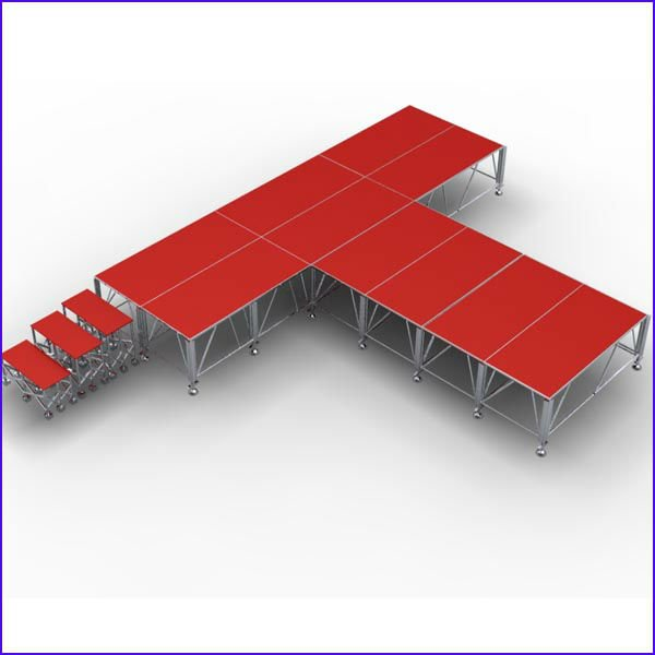 New design professional Adjustable height staging for schools