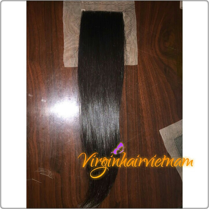 Silky Straight Texture Lace Closure Natural Black Color For Black Woman Cheap Vietnamese Hair