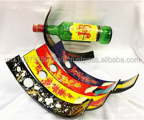 DECORATIVE WOODEN LACQUER WINE FOR BOTTLE HOLDER