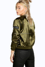 NEW women Flight Nylon Bomber Jacket/New Urban Black MA-1 Nylon Puffer FLIGHT Pilot Bomber