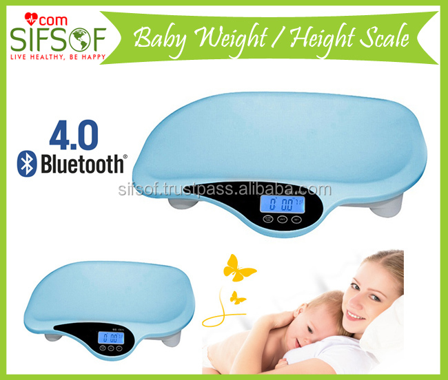 2016 Bluetooth Hot Best Selling Baby Weighing Scale, Measuring Tape, Head Circumference Calculator included, SIFBSCAL-6.1