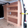 Van Vehicle Plywood Racking Shelving for Equipment Storage