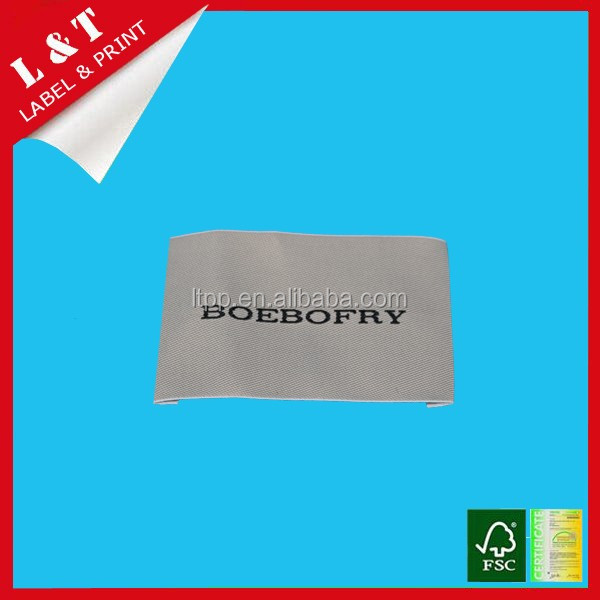 Professional customized woven label, neck label with exquisite artwork